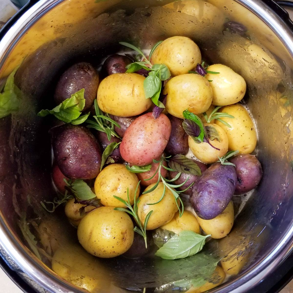 Baby potatoes in the Instant Pot