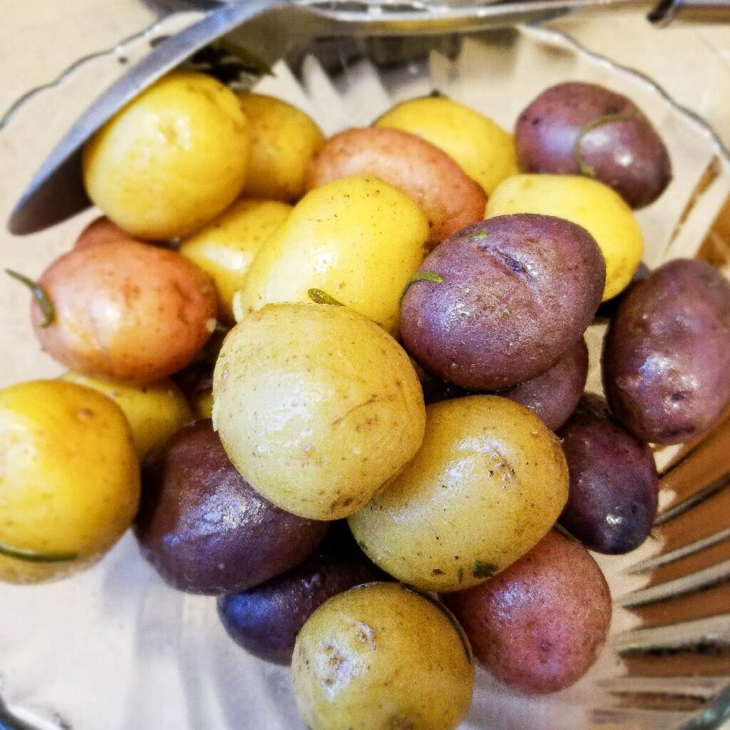 Baby potatoes after cooking, ready to serve