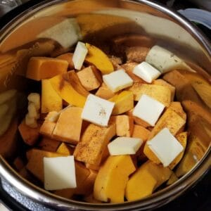 butternut squash and sweet potatoes in the instant pot