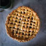 Homemade apple pie out of the oven