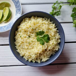 Cilantro lime rice in a bowl ready to be served